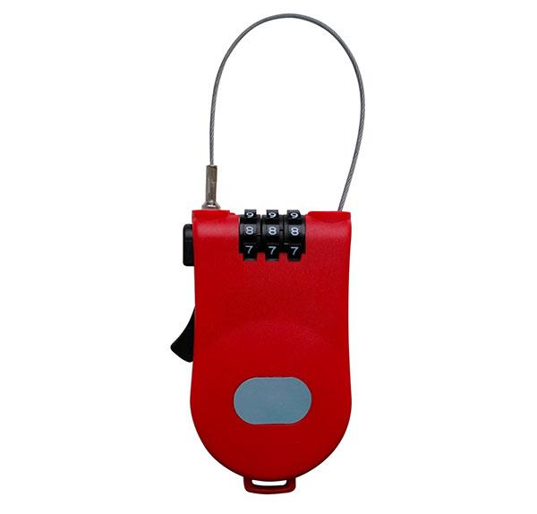 Lankový navíjecí zámek kódovací 7349 100 cm x 1,6 mm, červená