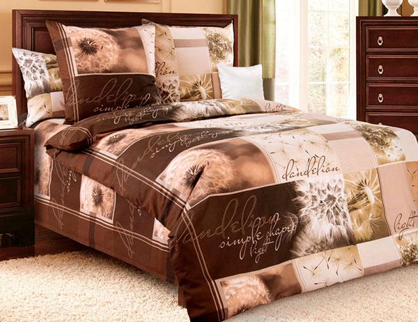 Bavlněné ložní povlečení Pampeliška hnědá - bavlna 1 + 1, 70 x 90 cm, 140 x 200 cm, Smolka