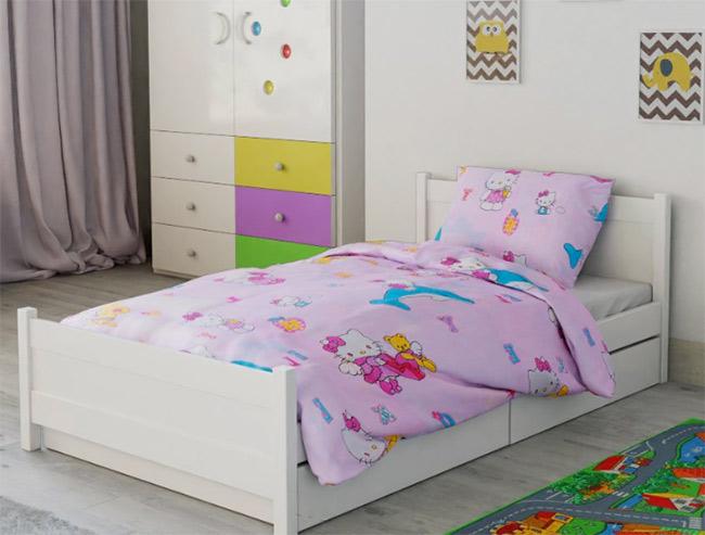 Dětské povlečení do velké postele Hello Kitty - bavlna 1 + 1, 70 x 90 cm, 140 x 200 cm