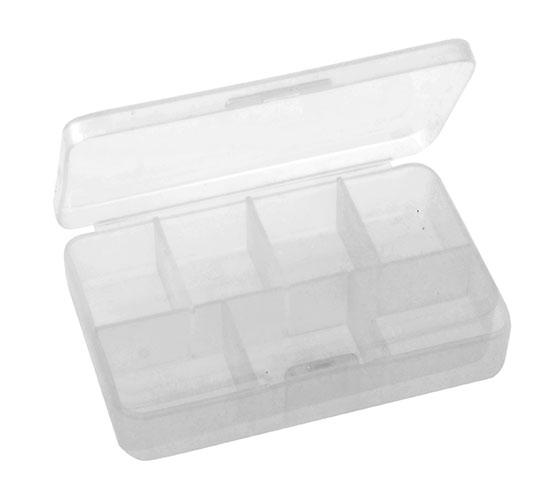 Zásobník na léky Adodo 6580 box 8,5 x 5,5 x 2 cm, transparentní