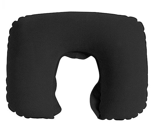 Cestovní nafukovací polštář na krk Podkova 43 x 27 cm, černá