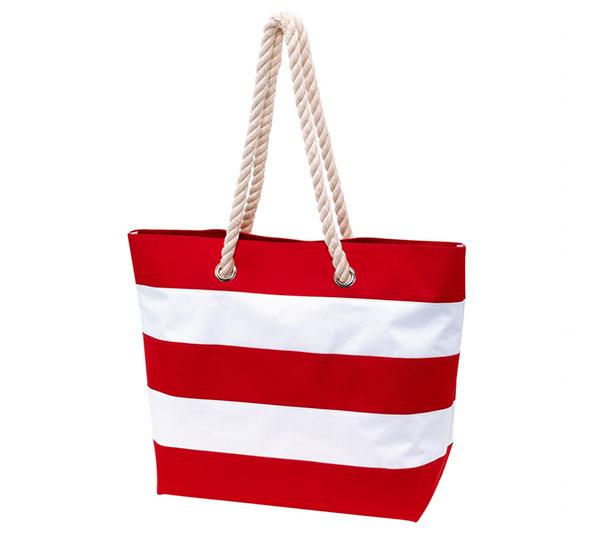 Dámská plážová taška přes rameno Pruhy 47 x 34 x 17 cm, červená