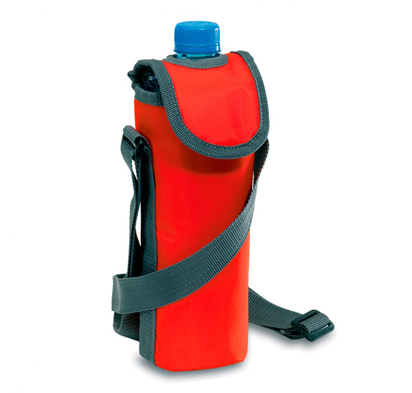 Chladící cestovní obal 6938 na láhev 0,5l, červená