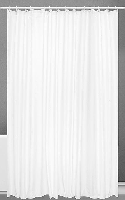 Koupelnový závěs 6479 polyester s kroužky 180 x 200 cm bílý