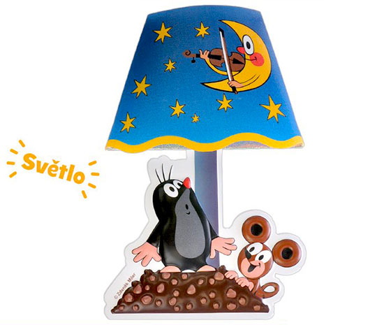 Lampička Krteček nalepovací s dotykovým zapínáním 27 cm