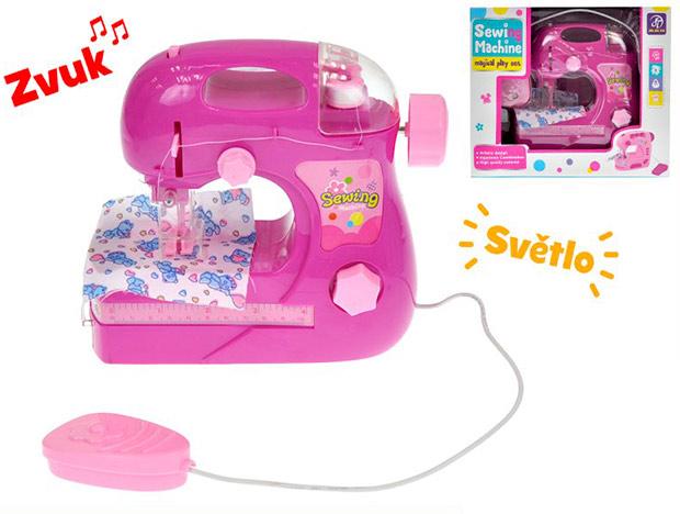 Dětský šicí stroj s nitěmi na baterie se světlem a zvukem, 88284