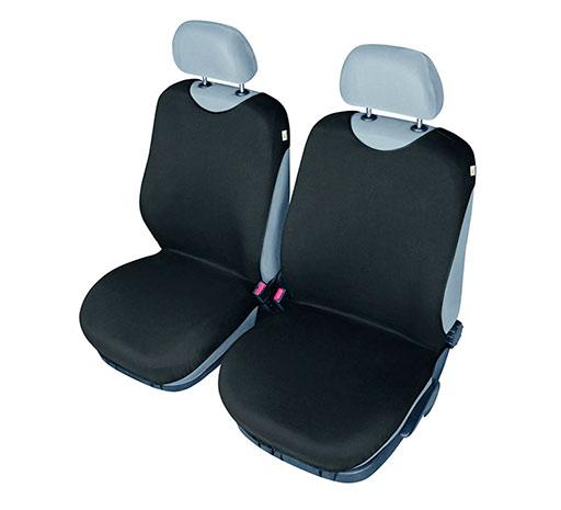 Univerzální potahy na 2 přední sedadla do auta Tričko  715, černá