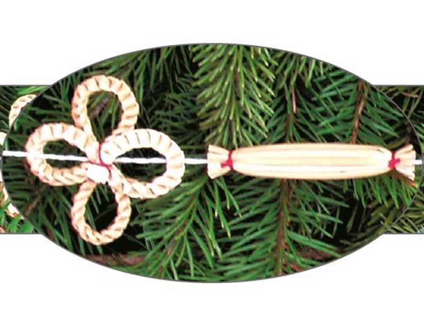 Vánoční řetěz slaměný III.