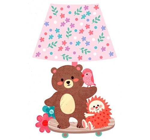 Lampička samolepicí svítící LED Medvídek 27 cm
