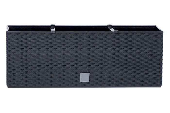 Samozavlažovací truhlík Rato case 51,4 x 19,2 cm antracit
