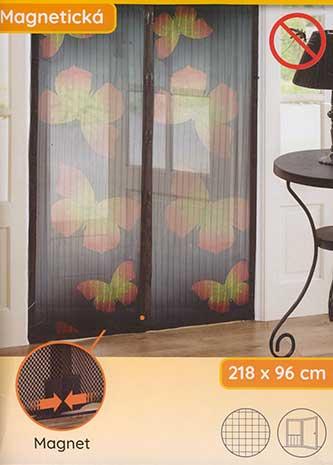 Síť do dveří proti hmyzu s magnetickým uzávěrem 218 x 96 cm