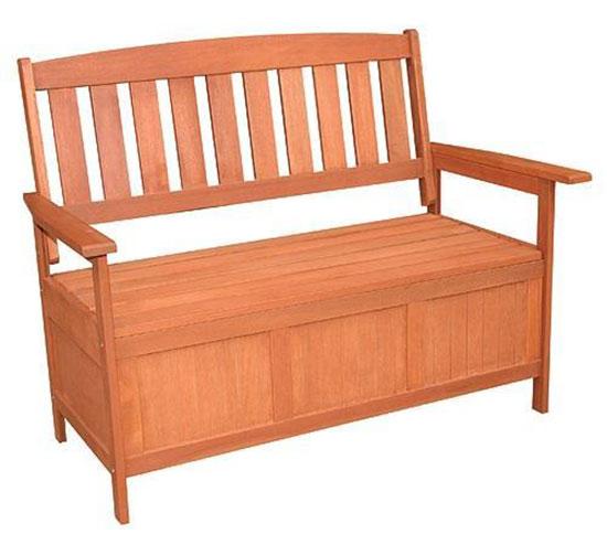 Dřevěná lavice s úložným prostorem Ado 6597 120 x 65 x 90 cm