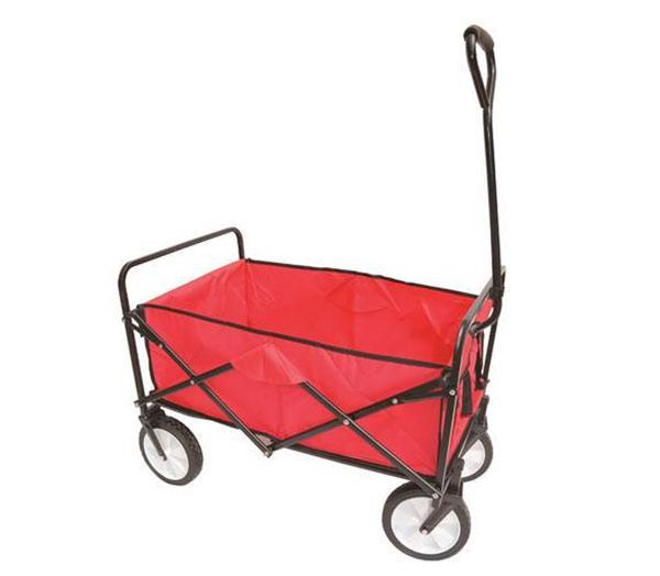 Skládací plážový vozík 6868 nosnost 70 kg, 75 x 45 x 24 cm, červená