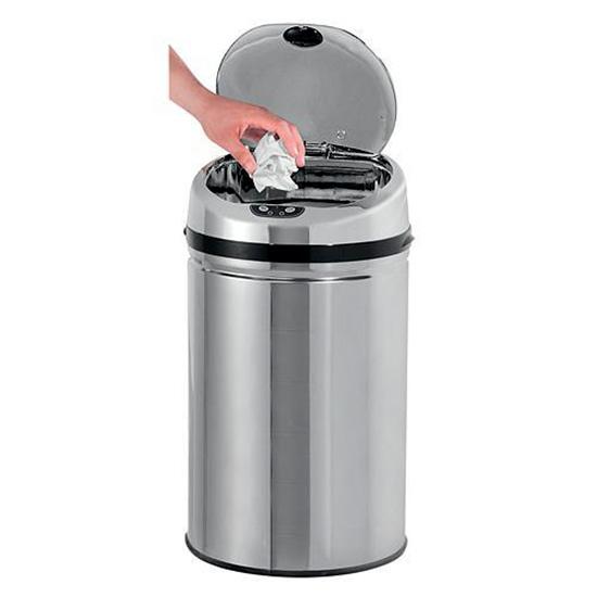 Odpadkový koš se senzorem AD-001, 30 l, nerez