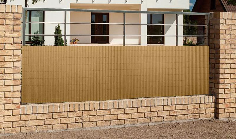 Zástěna na balkon 6918, umělý bambus 1 x 3 m, hnědá