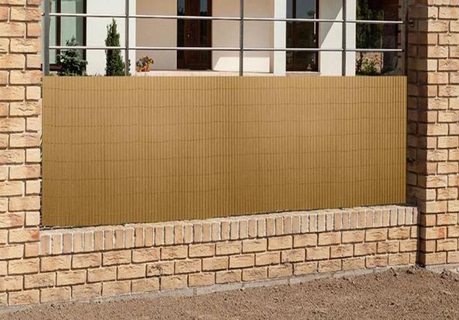 Zástěna na plot umělý bambus 6993, 1,5 x 3 m, hnědá