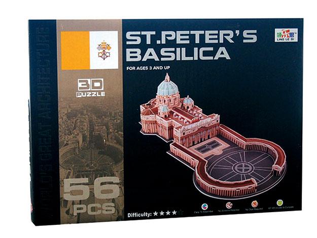 3D puzzle Bazilika sv. Petra 56 dílků