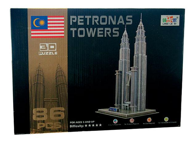 3D puzzle Petronas Towers 86 dílků