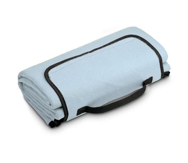 fleecová deka na piknik PAT 140 x 130 cm, sv. modrá