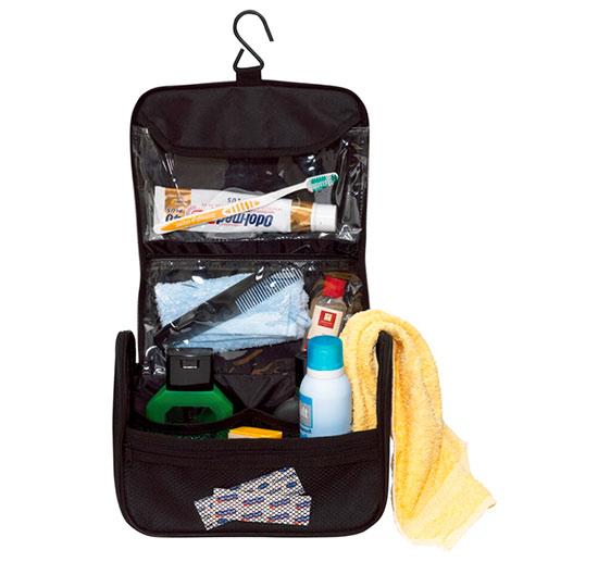 Cestovní toaletní taška Aderes 18 x 13 x 9 cm, černá