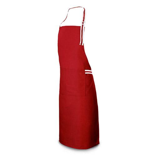 Kuchyňská grilovací zástěra 6941 nastavitelná s kapsami, 65 x 85 cm, červená