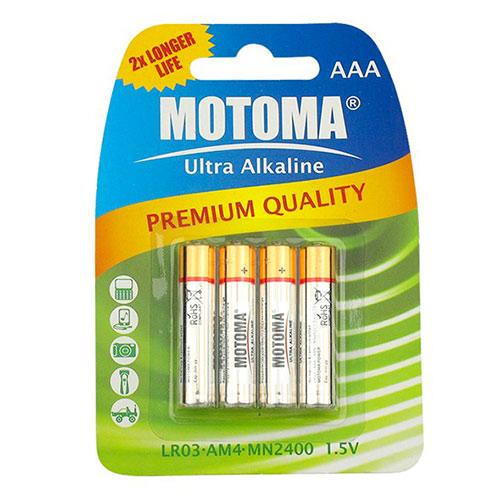 Alkalické baterie MOTOMA AAA, LR3 - mikrotužkové 4ks