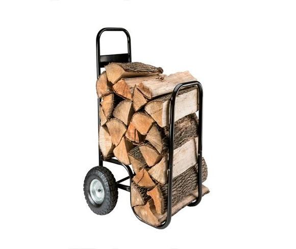 Vozík na dřevo ke krbu 107 x 52 x 57 cm