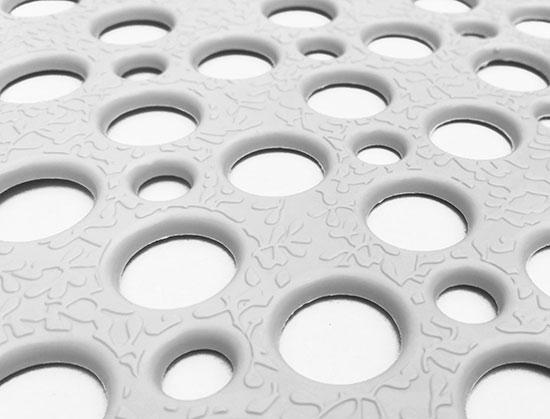 Protiskluzová podložka do vany 74 x 36 cm, bílá