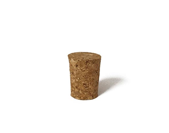 Korková zátka 27 mm, průměr 21/18 mm