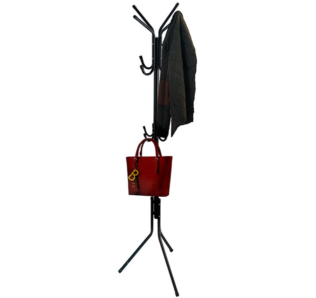 Kovový věšák na oblečení 7082 stojanový 175 cm, černý