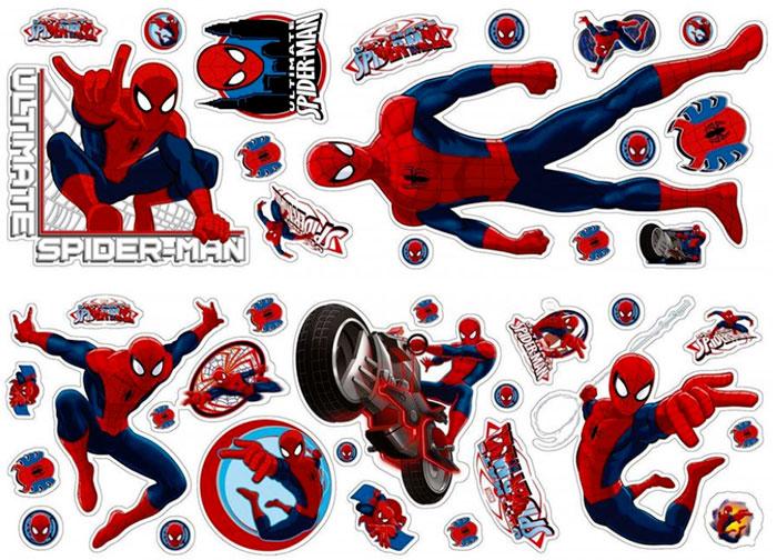 Samolepky na zeď Spiderman D40268 velký, 70 x 50 cm