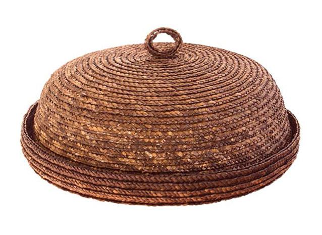 Chlebník kulatý 30 cm, barvená sláma