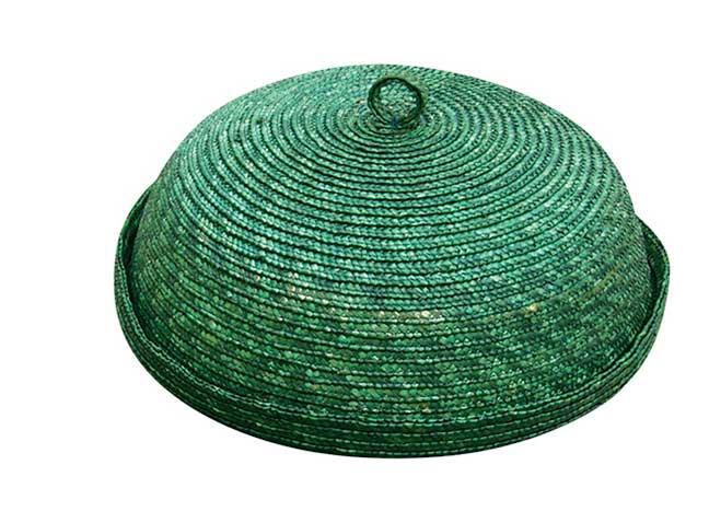 Chlebník kulatý - zelený, pr. 30 cm, v. 11,5 cm