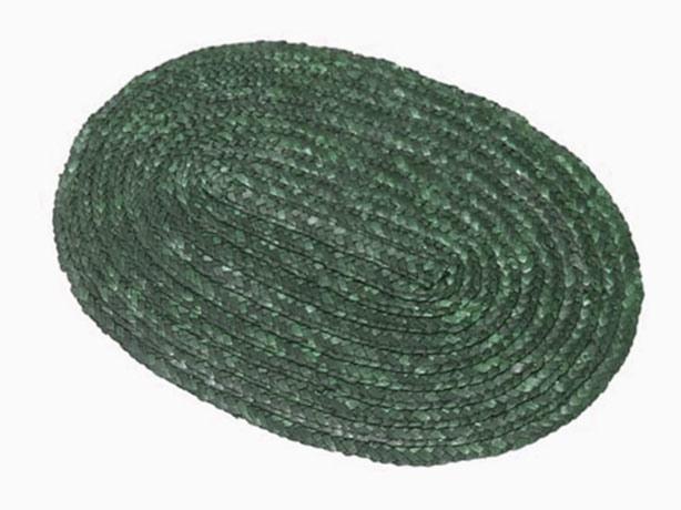 Prostírání z barvené slámy oválné II., zelené