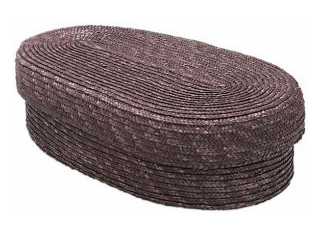 Chlebník polstrovaný oválný, hnědý