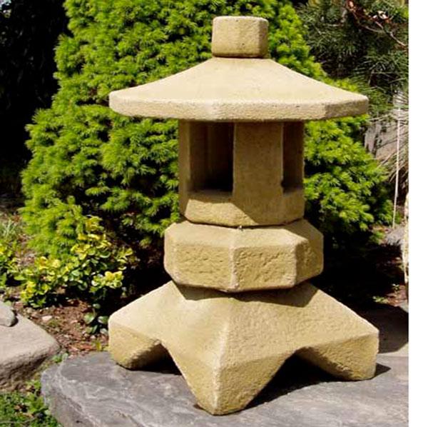 Japonská lampa kamenná LIII, umělý kámen 30 x 53 cm