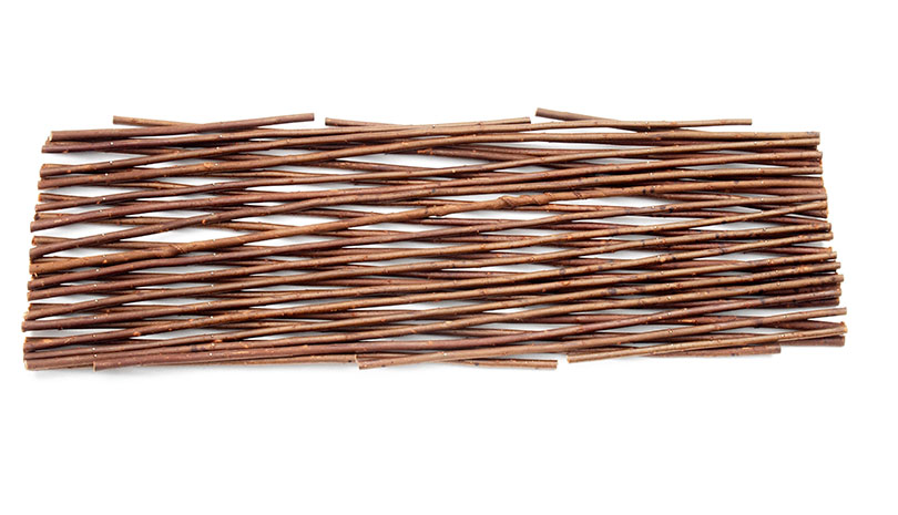 Dřevěná mřížka přírodní 60 x 180 cm