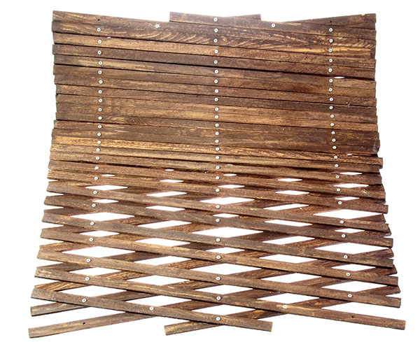 Dřevěná zahradní mřížka 3560 E, 455 x 52 cm, palisandr