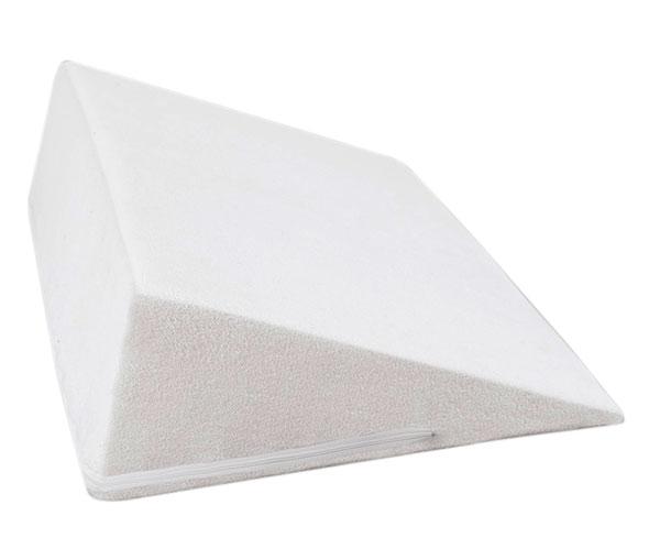 Klínový podhlavník do postele froté 80 x 50 x 20 cm, bílá