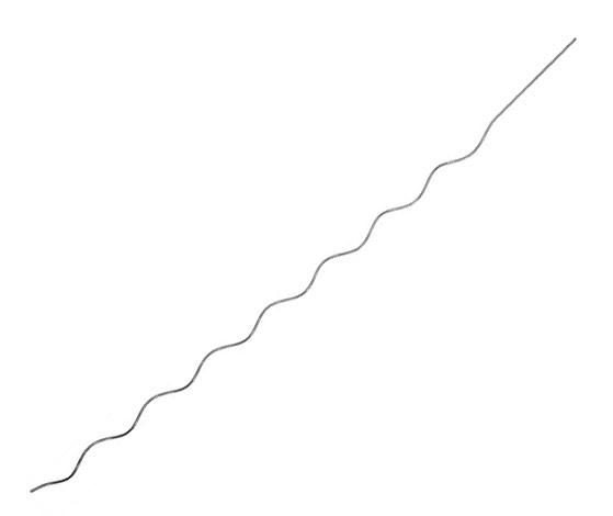 Tyč k rajčatům spirála 180 cm - stříbrná komaxit