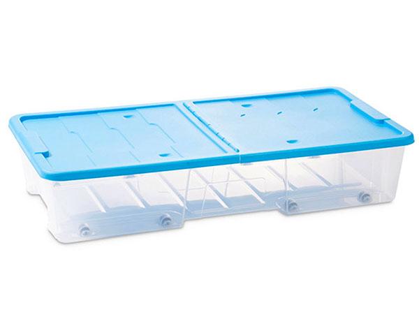 Úložný plastový box na kolečkách pod postel s víkem 35 l