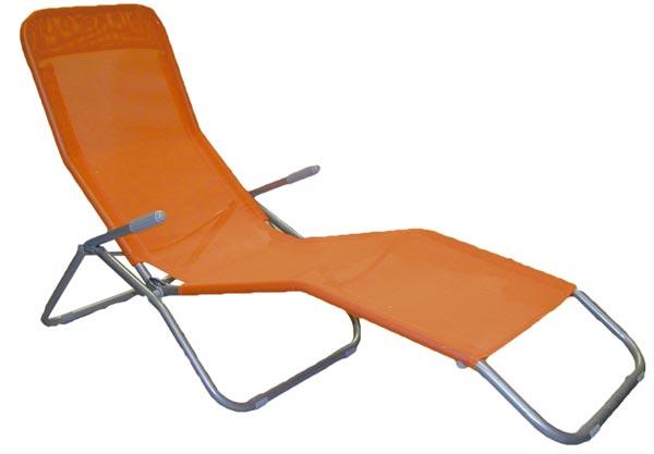 Skládací lehátko relaxační 4064, oranžové
