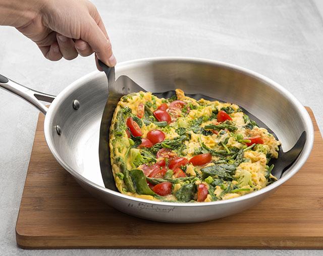 Nepřilnavá podložka 7070 na pánev - vaječná omeleta bez tuku 24 cm, černá