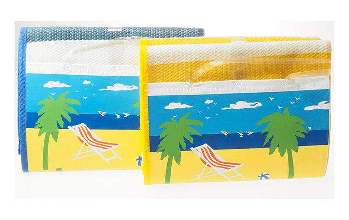 Plážová podložka s polštářkem Ado 535, 180 x 86 cm