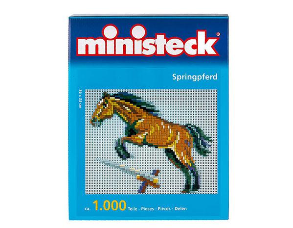 Dětská kreativní mozaika Kůň 1000 dílků, 26x33 cm, Ministeck