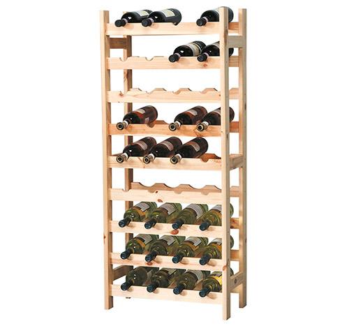 Stojan na víno na 36 lahví 6852 Natur masiv 119 x 43 x 25 cm