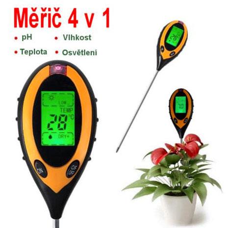 Měřič 4 v 1 PMH30 pro měření vlhkosti, ph, teploty a osvětlení
