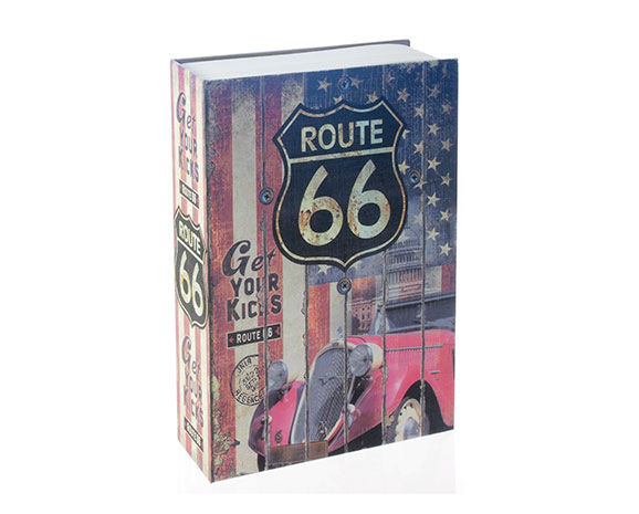 Trezor jako kniha Sejf 6640 240 x 155 x 55 mm, motiv Route 66