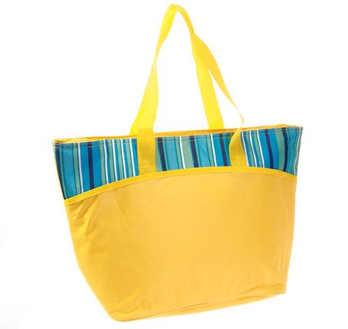 Velká plážová termo taška 25 l, žlutá