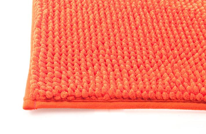 Koupelnová předložka CHENILL 50 x 80 cm - oranžová